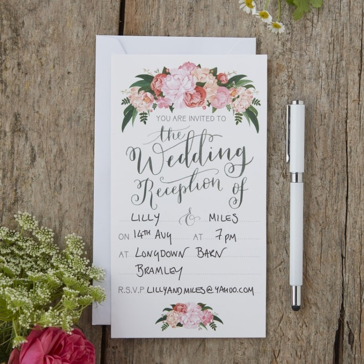 boho evening invitations