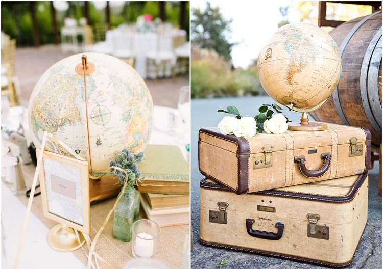 Table Globes Travel Wedding Ideas3