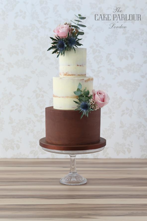 Chocolate-Vanilla-Semi-naked-cake