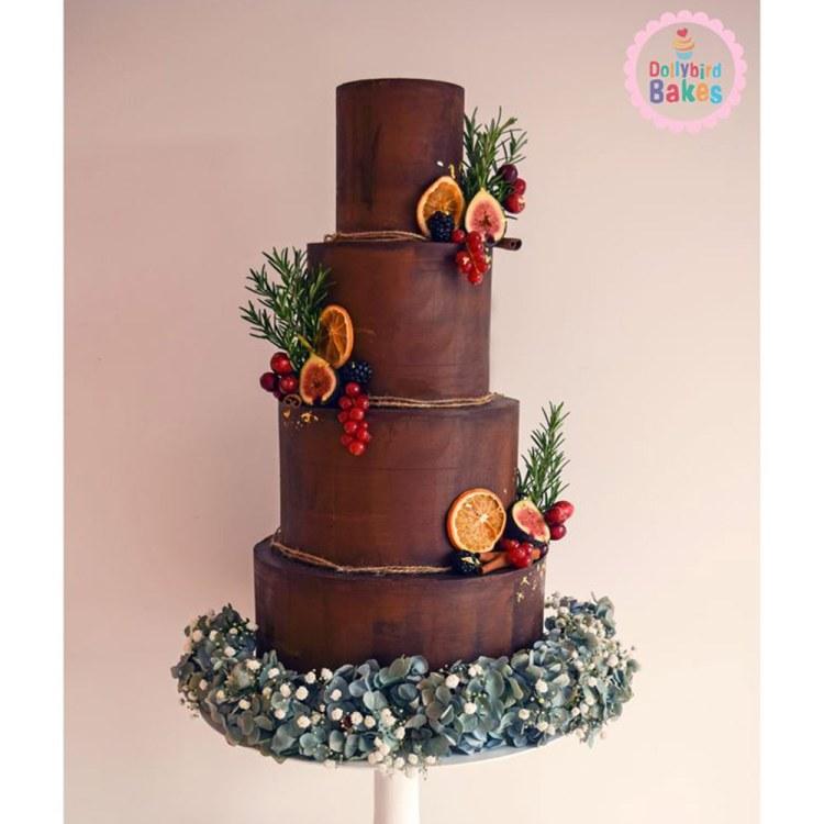 Chocolate-wedding-cakes-dollybird-bakery
